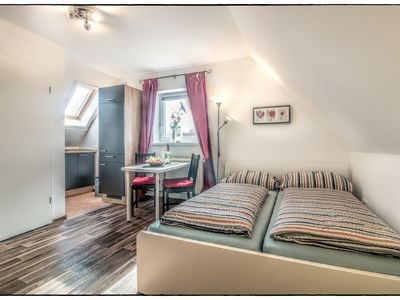 Photo for Non smoking apartment for 2 adults + 1 infant in direct beach location