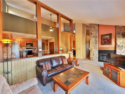 Photo for Inviting ski-in/ski-out condo with private indoor hot tub and mountain views