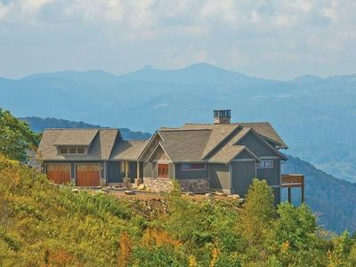 Photo for Lookout Lodge- Luxury home with stunning 100 mile views, Hot Tub, Tennis, Club House!