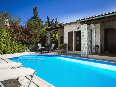 Photo for 2 bedroom Villa, sleeps 4 in Khalikerí with Pool, Air Con and WiFi