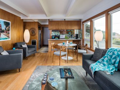 Photo for Charming Mid-Century!  Oceanview, near Cannon Beach, Zen and Retro in one!