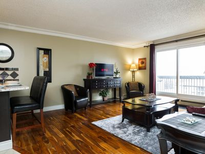 Photo for Luxury 1Bed/1Bath Executive Condo Downtown - Free Heated Underground Parking!