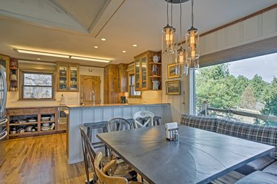 The interior of the home is deigned to impress with custom furnishings!