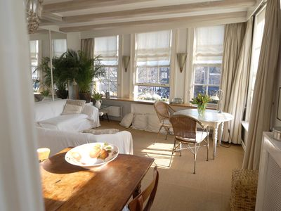 Photo for Beautiful apartment at the crossing of two canals in the center of Amsterdam