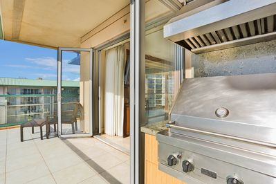 Private BBQ on the balcony!