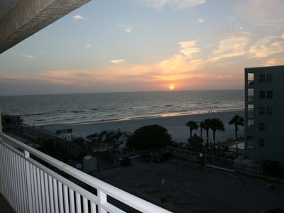 Photo for Beachfront! Roomy Condo, Pool Onsite, Steps Away From The Beach!