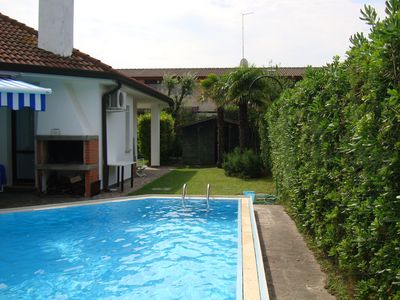 Photo for Detached House with swimming pool and private garden, in front of the Sports Centre