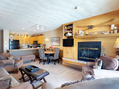 Photo for Charming, waterfront condo with furnished deck, shared hot tub, & fitness room