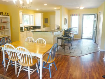 Well stocked kitchen overlooking the Cougar Point golf course. Open floor plan