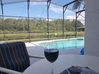 Enjoy the view of wildlife with a glass of wine