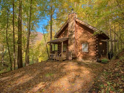 Photo for 2 BD 2 BA Private Cozy Log Cabin, Close to Town, Cable, WIFI, Limited Pets