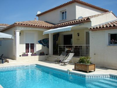Photo for VILLA SWIMMING POOL for 4 pers max. comfortable + air - quiet 3km from the sea