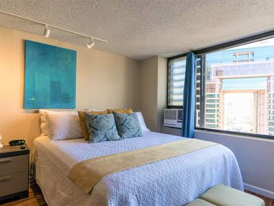 Photo for Modern, New King Bed, Luxury, Spacious Waikiki Condo with Beautiful View!