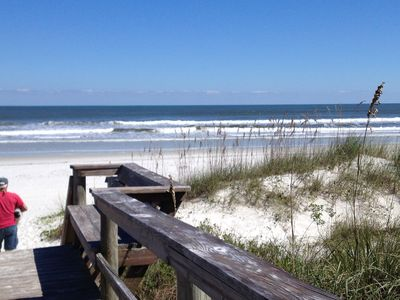 The sand is white as sugar! enjoy walking in the surf while you look for shells