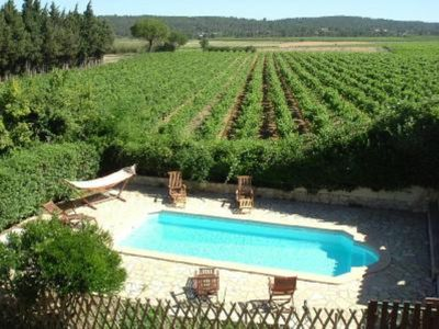 Photo for Character gite with swimming pool, surrounded by vineyards, 30 min drive from the Mediterranean coast.