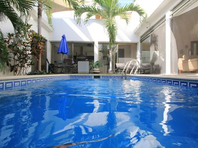 Dream villa with individual pool, patio and large roof terrace