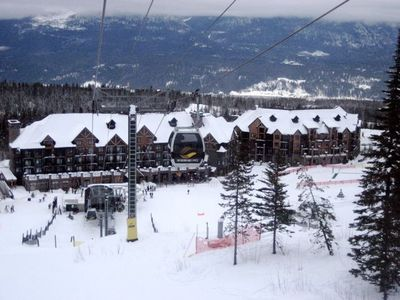 View of Lodge from the Gondola with Golden/Columbia Valley in the Distance
