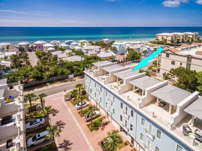 Photo for Walk to it all. 4 Bedroom / 4 Bathroom townhome with Gulf Views, sleeps 12