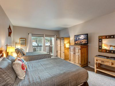 Photo for Downtown Full Studio-Sleeps 5 -Steps to Shuttle -Hot Tub/Pool -3min to Skiing