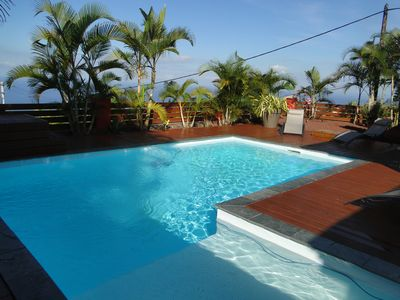 Photo for Piton Saint Leu: ocean view 180 °, pool, air conditioning, quiet, Furnished Tourism 4 *