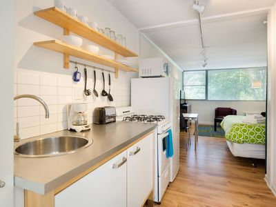 Photo for Cool Classic Studio Apartment (G) - Includes Weekly Cleanings w/ Linen Change