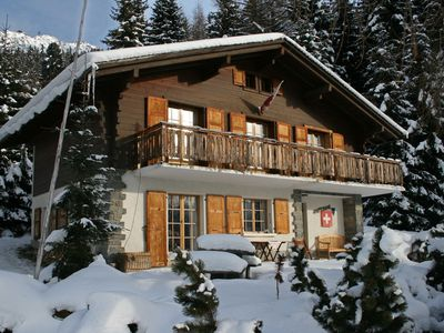 Photo for Charming family chalet in Verbier