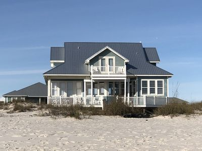 Photo for Beach Front 7 BR w/ Tree house style bunks!