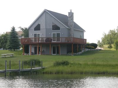 Photo for Relaxing lodge on MIs Inland Waterway with 2 docks! Only 20 Minutes to Mackinaw!