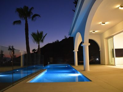 Photo for Villa Bugenvilla near the sea with a wonderful view of the Mediterranean