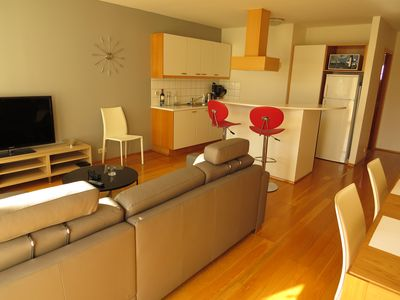 Photo for Charming apartment in the centre, by the main street, free WiFi, free parking
