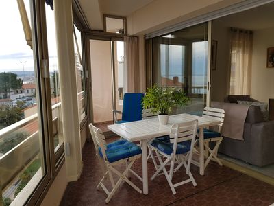 Photo for CAGNES-- Small Port- 2 Rooms - Seaside- Sea view.