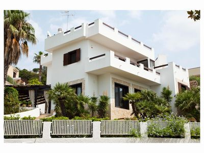 Photo for STAIRWAYS PRESTIGIOUS VILLA WITH 11 BEDS, POOL, Beach 250mt panorama