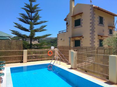 Photo for Villa with Private Pool ideal for 1 couple / family near Rethymno Crete