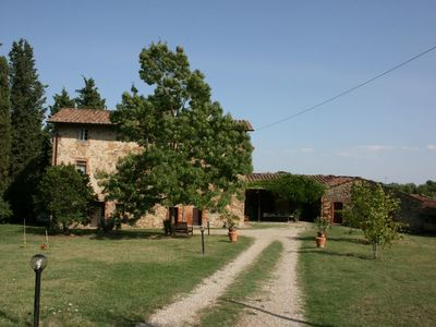 Photo for Wonderful private villa with private pool, WIFI, TV, veranda and parking, close to Montepulciano