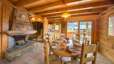 Photo for Chalet located on the heights of Chatel (area Petit Châtel) about 1.2km from the center.