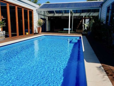Photo for CORSAIR BREEZE - CORSAIR BREEZE  Family Getaway with in ground heated pool.