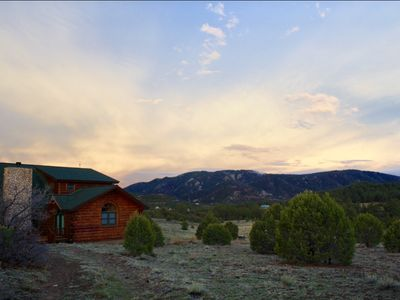 Photo for Log home on Oak Creek Mountain Ranch with 360 views,
