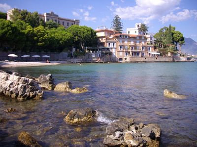 Villa Accetta with its private beach sits on the edge of the Gulf of Gaeta