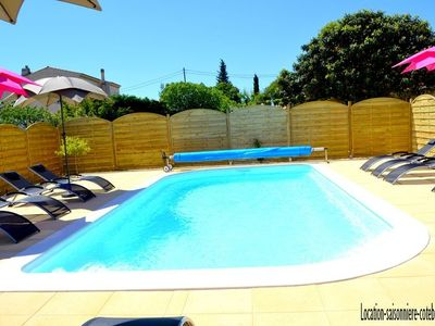 Photo for 4 * listed house pool and private garden 3 k sausset pines