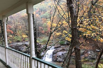 View from The Veranda Fall at The Waterfall House