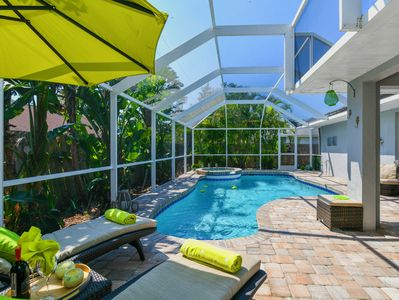 Enjoy the heated private pool