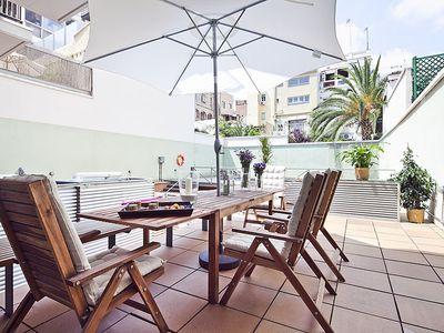 Photo for Apartment Barcelona Rentals - Gràcia Loft with terrace & swimming pool for 6 pax