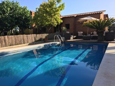 Photo for 4 Bed Villa with private pool & large garden. Sea views, peaceful, near beaches