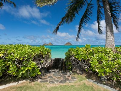 Oceanfront Lanikai Home with Access to Secluded White Sand Beach