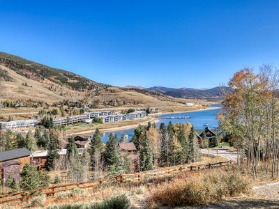 Photo for Vibrant lake-view condo w/ private gas grill, large patio, & wood stove