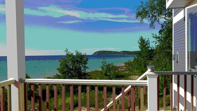 Photo for Directly on Lake Mi ~ Views Of The Manitou Islands And Sleeping Bear Shoreline