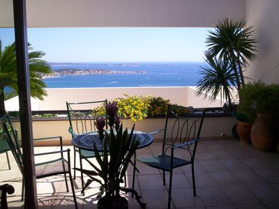 Photo for Apartment 3 Rooms + Terrace 15 m². View Fairy Wed. Swimming pool in residence.