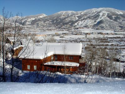 Photo for Stunning Mtn.Views Overlooking Steamboat Ski Area, Private Hot Tub, Pets Welcome