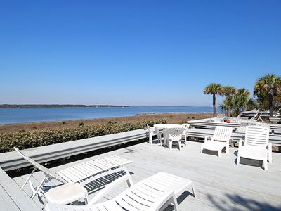Photo for Serene 4 bedroom, 4 bath townhouse with direct water front view.