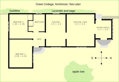 Green Cottage - the floor plan